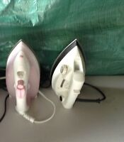 2 clothes irons both in excellent condition
