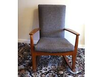 PARKER KNOLL ROCKING CHAIR MID CENTURY SOLID WOOD VGC CONDITION *NO TEXTS PLEASE*