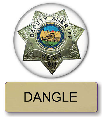 RENO 911 DANGLE NAME BADGE & Lieutenant 3