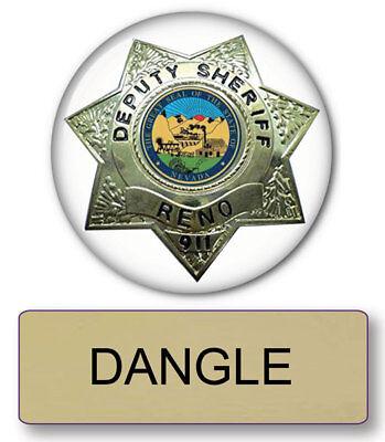 RENO 911 DANGLE NAME BADGE & Lieutenant 3