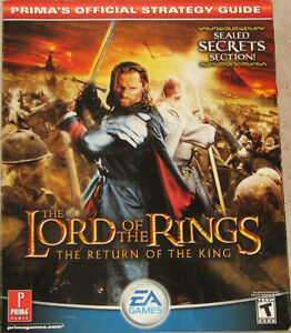 Lord of the Rings Return of the King EA Games Strategy Book