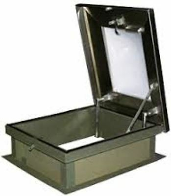 Lane-aire Galvanized Steel Roof Hatch With Skylight - 30 X 36
