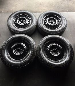 245/65/17 Michelin X-ICE2 winters on rims 5x114.3mm for SUV
