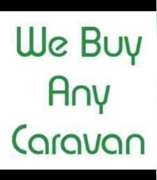 We buy any caravan