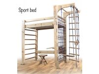 Indoor sport corners wall bed