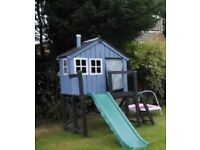 Wendy house and slide