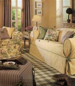 Butterick B3877 WAVERLY SEWING PATTERN Slipcover Loose Cover Sofa/Chair Pillow