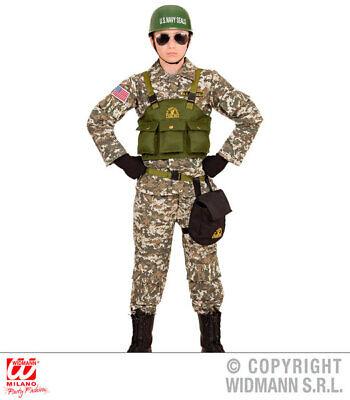 Childs kids Camo Navy Seals Boy Fancy Dress Costume Outfit Children 5-16 Yrs ()