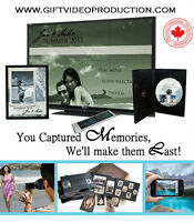 We transfer and edit your Family Home and Wedding videos