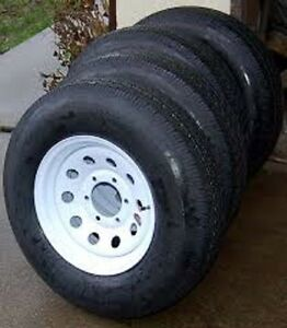 ST235/80R-16 Trailer Tire And Rim Assembly (10 Ply) 6 Or 8 Bolt Edmonton Edmonton Area image 1