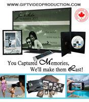 Digital photo album & edited home videos on DVD