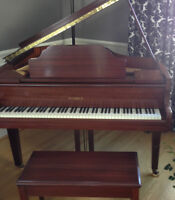 "Small 4' 6"" Mahogany Baby Grand Piano- MINT"