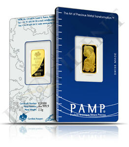 PAMP SUISSE 2.5g (gram) 9999 Pure Gold Bar
