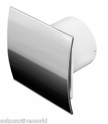 """Stainless Steel Bathroom Extractor Fan 100mm 4"""" Kitchen Modern Ventilator WEI100"""
