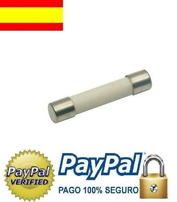 Fusible ceramico microondas 10A/250v, (6x30mm.fussionner,fusibile,sicherung,fuse