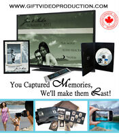 Home videos & photos on professionally edited DVD