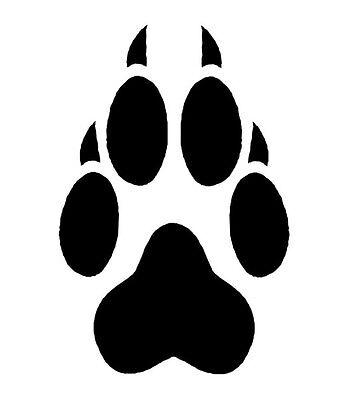 4 Wolf Paw Print Temporary Tattoos, School Mascot Cheerleader Face Tats