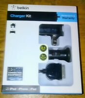 Chargeur Belkin maison/auto + cable pour iPhone 4/iPad - Neuf