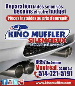 EXHAUST SYSTEM REPAIR: Catalytic converter, Flex pipe, Muffler