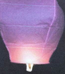 Color or white sky lanterns $2 each when you purchase 5 pcs
