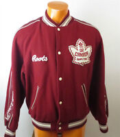 LIMITED EDITION Vintage ROOTS OLYMPIC CANADA 2002 Leather Jacket