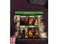 Gears of war 1,2,3 and judgement download codes for xbox one