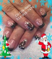 Pose d'ongles , shellac Ile Perrot, Pincourt, Vaudreuil