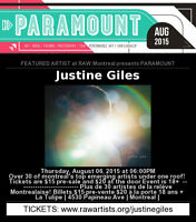 """Support Sudbury's Justine Giles at her """"RAW artists"""" Showcase"""