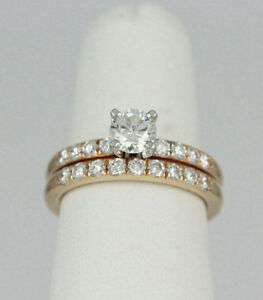 14k Yellow Diamond Engagement Ring & Band (1.33 tdw) #1883