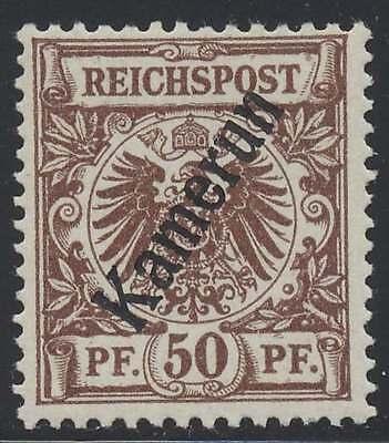 Kamerun Nr. 6 ungebraucht / *, 50 Pfg. Krone/Adler mit Diagonalaufdruck (44634)