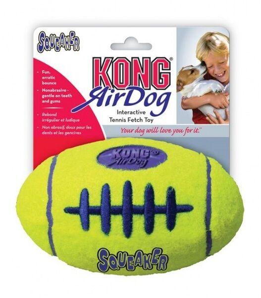 Kong .... Air Kong Squeaker Fetch Tennis Ball Material Football -  Dog Toy Large