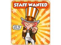 Customer services staff wanted