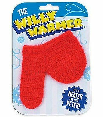 Willy Warmer Weiner Weener Knitted Sock - funny adult prank gag joke gift