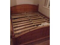 Lovely Super Kingsize Pine Bed Frame Good Condition Can Deliver Locally for £5