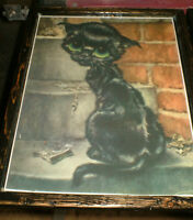 2 ' Big Eyed ' Kitten pictures from 1960's - Hand crafted