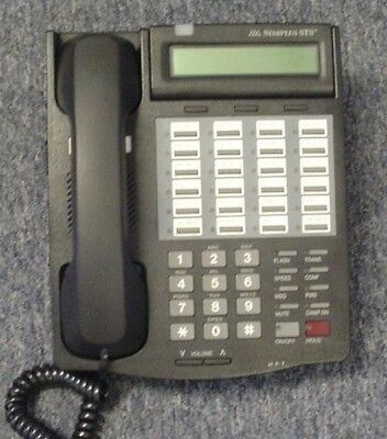 Vodavi 3515-71 Starplus Sts Charcoal 24 Button Phone Refurbished 1 Yr. Warranty.