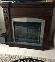 *[SOLD]Beautiful electric Fireplace with real slate