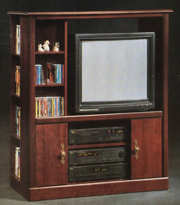 Reduced -Sauder Entertainment Unit - Classic Cherry Finish - New
