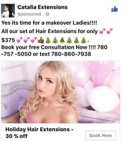 Holidays Hair Extensions > $375