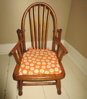 Antique toddler chair and potty