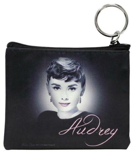 "Audrey Hepburn ""Audrey"" Key Chain Coin Purse  - Licensed New"