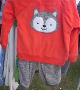 carters microfleece outfit FOX