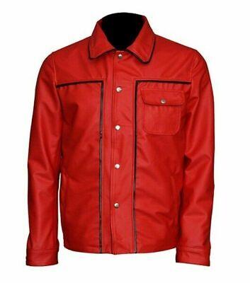 Elvis Jacke (Elvis Presley der König des Rock Vintage Hemdskragen Baumwolle Rot Jacke)