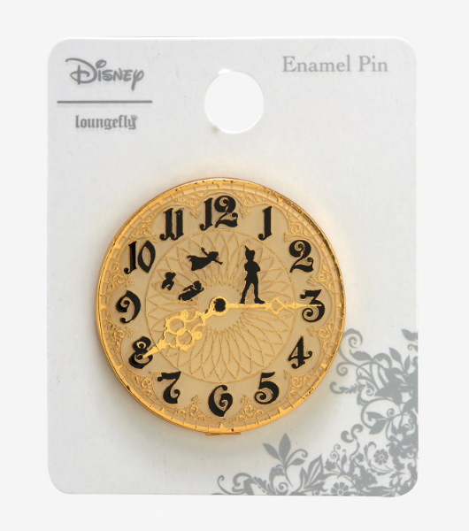 Disney Peter Pan Clock Pin BoxLunch Loungefly Limited Edition Wendy Tinker Bell