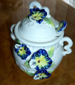 """Pansy"" Sugar Bowl ... Excellent Condition"