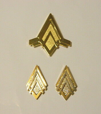 New Battlestar Galactica Captain Rank (dlx) Metal Pin Pip Set of 3, NEW UNUSED