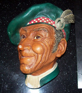 JOCK 1st Edition 1962 BOSSONS HEAD CHALKWARE Britain Wall Plaque