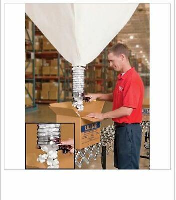Uline H-185 20 Cu. Ft. Canvas Bag W Flexible Tubing Peanut Dispenser