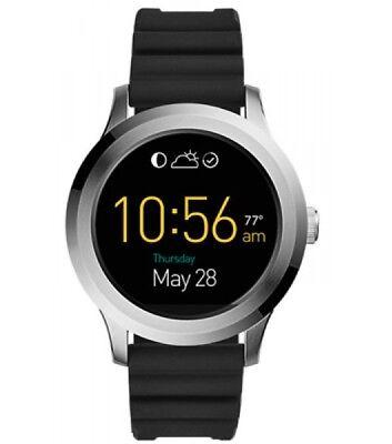 Fossil Q Gen 2 Wander Black Silicone Strap Touchscreen Smart Watch 45Mm Ftw2118