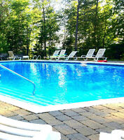 PISCINE et nature - condo Laurentides